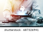 technology people global... | Shutterstock . vector #687326941