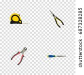 realistic nippers  forceps ... | Shutterstock .eps vector #687328285