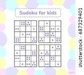 vector illustration. sudoku... | Shutterstock .eps vector #687329401