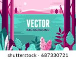 vector illustration in trendy... | Shutterstock .eps vector #687330721