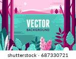 vector illustration in trendy... | Shutterstock .eps vector #687330721