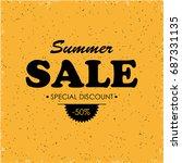 summer sale banner | Shutterstock .eps vector #687331135