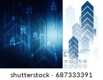 2d digital abstract business... | Shutterstock . vector #687333391