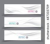 set of banner templates. ...   Shutterstock .eps vector #687333709