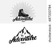 set of the adventure begins... | Shutterstock . vector #687333784