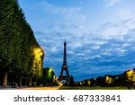 the eiffel tower  nickname la...   Shutterstock . vector #687333841
