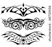 vector tribal tattoo set3 | Shutterstock .eps vector #68733436
