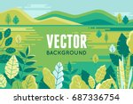 vector illustration in trendy... | Shutterstock .eps vector #687336754
