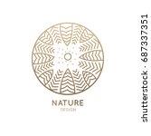 vector logo of nature on white... | Shutterstock .eps vector #687337351