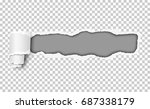 vector snatched hole in... | Shutterstock .eps vector #687338179