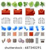 set of landscape design...   Shutterstock .eps vector #687340291