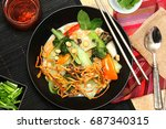 thai style coconut and... | Shutterstock . vector #687340315