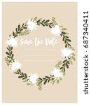 wedding invitation template  | Shutterstock .eps vector #687340411