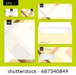modern stationery set in vector ... | Shutterstock .eps vector #687340849