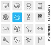 vector illustration of 16 sport ... | Shutterstock .eps vector #687353911