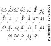 vintage letters. vector...   Shutterstock .eps vector #687355081