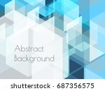 blue abstract background | Shutterstock .eps vector #687356575