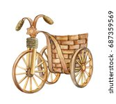 decorative bicycle isolated on... | Shutterstock . vector #687359569