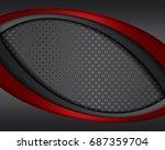 vector of abstract metallic...   Shutterstock .eps vector #687359704