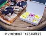 box with medications  drug and... | Shutterstock . vector #687365599