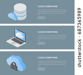 cloud computing web banners | Shutterstock .eps vector #687365989