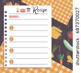 vector template of recipe card. ...   Shutterstock .eps vector #687370027