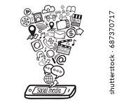 social media concept.... | Shutterstock .eps vector #687370717
