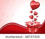 vector   happy valentine's day  ... | Shutterstock .eps vector #68737333