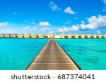 south ari  maldives   8 july... | Shutterstock . vector #687374041