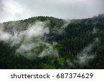 fantastic dreamy landscape.... | Shutterstock . vector #687374629