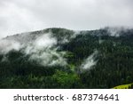 fantastic dreamy landscape.... | Shutterstock . vector #687374641