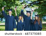 education  graduation and... | Shutterstock . vector #687375085
