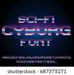 sci fi future cyborg style... | Shutterstock .eps vector #687375271