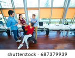startup business people group... | Shutterstock . vector #687379939
