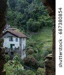 walk to cannobio  lake maggiore ... | Shutterstock . vector #687380854