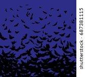 halloween vector background... | Shutterstock .eps vector #687381115
