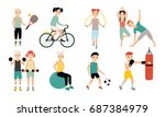 kids sports activity collection.... | Shutterstock .eps vector #687384979