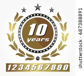customable years anniversary... | Shutterstock .eps vector #687388891
