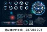 hud ui for business app....   Shutterstock .eps vector #687389305