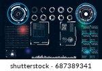 hud ui for business app.... | Shutterstock .eps vector #687389341