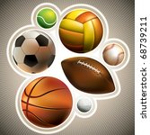 composed set of different balls.... | Shutterstock .eps vector #68739211