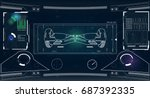futuristic user interface for...   Shutterstock .eps vector #687392335
