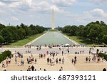 washington memorial | Shutterstock . vector #687393121