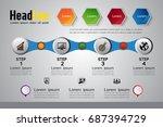 business timeline  ... | Shutterstock .eps vector #687394729