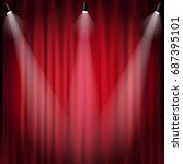 spotlight  | Shutterstock . vector #687395101