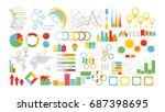 infographics symbols set on... | Shutterstock .eps vector #687398695