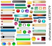 web buttons collection with 63...   Shutterstock .eps vector #68739979