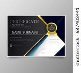 certificate premium template... | Shutterstock .eps vector #687403441
