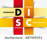 disc  dominance  influence ... | Shutterstock .eps vector #687409351