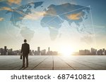 international business concept... | Shutterstock . vector #687410821